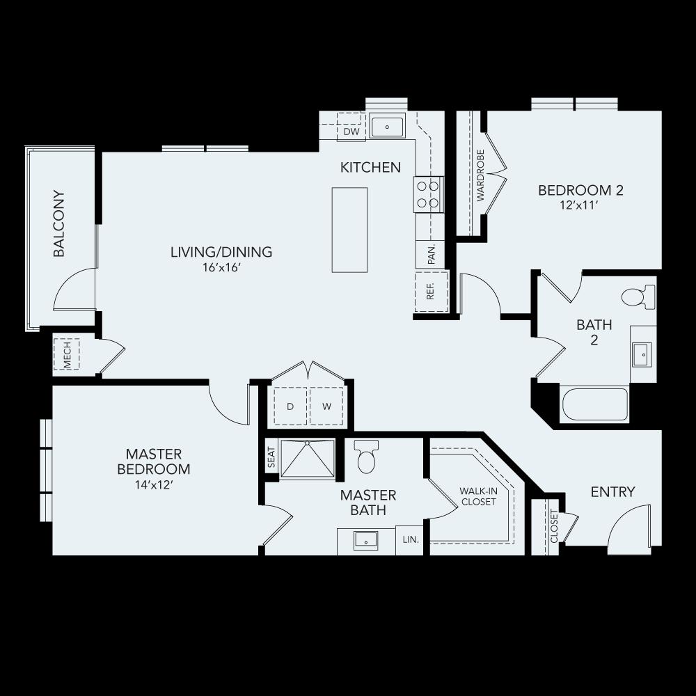 B4 ADA floor plan avenida watermarq germantown