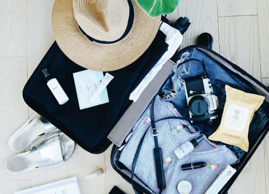 open suitcase