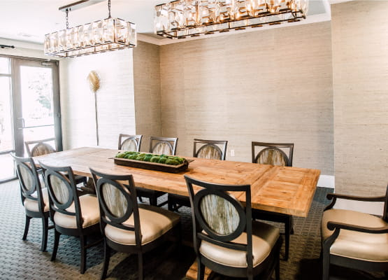 private dining room at avenida watermarq germantown