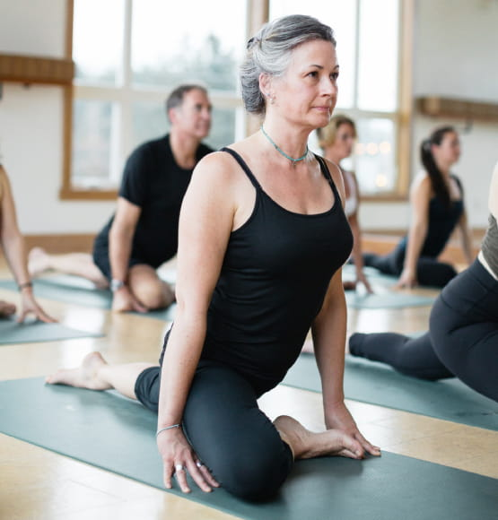 woman in yoga class